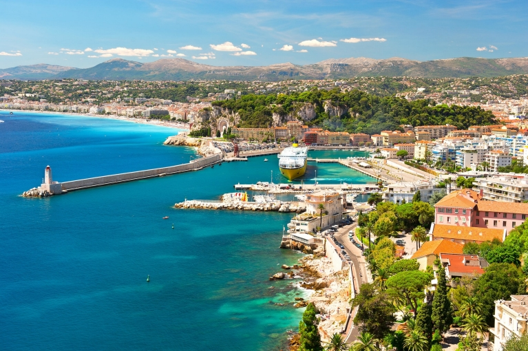 The city of Nice on the French Riviera