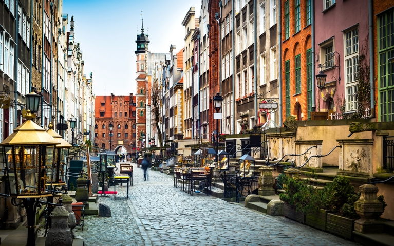 Cobbled streets of Gdansk