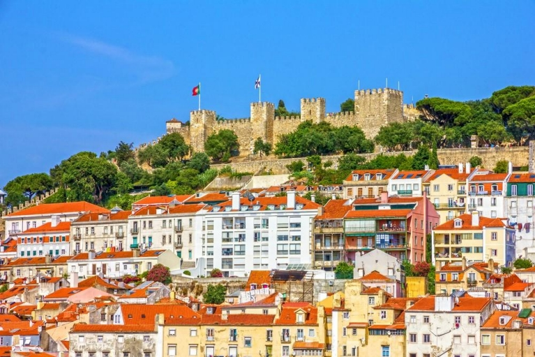 The Alfama and Sao Jorge Castle