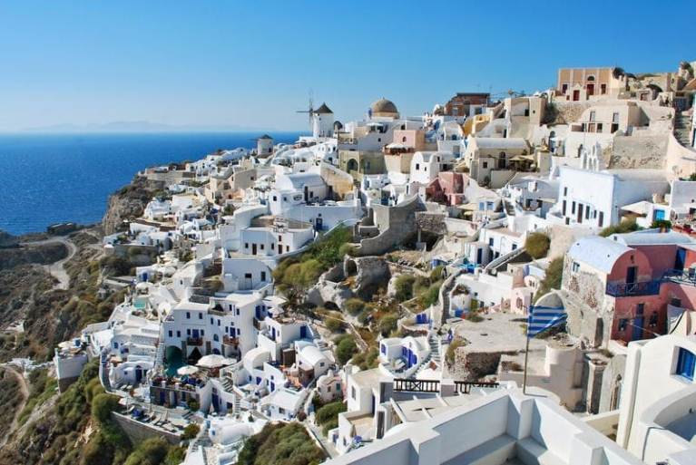 Scenic view of Oia