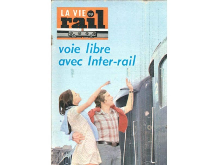 Vintage French Interrail documents