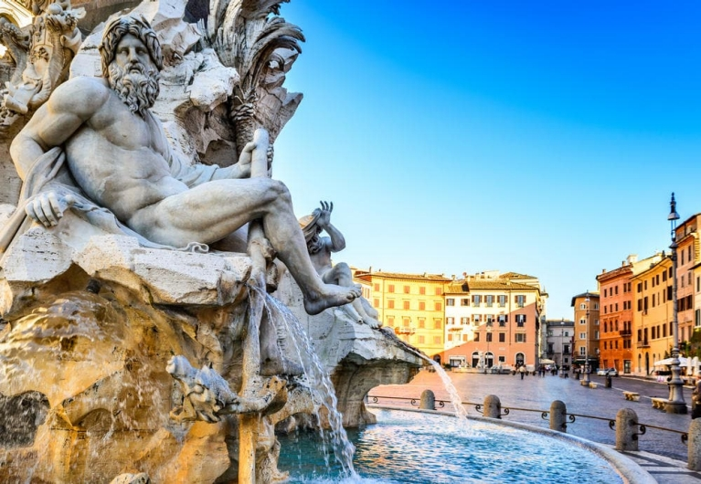 Fountain on Piazza Navona | 24 hours in Rome