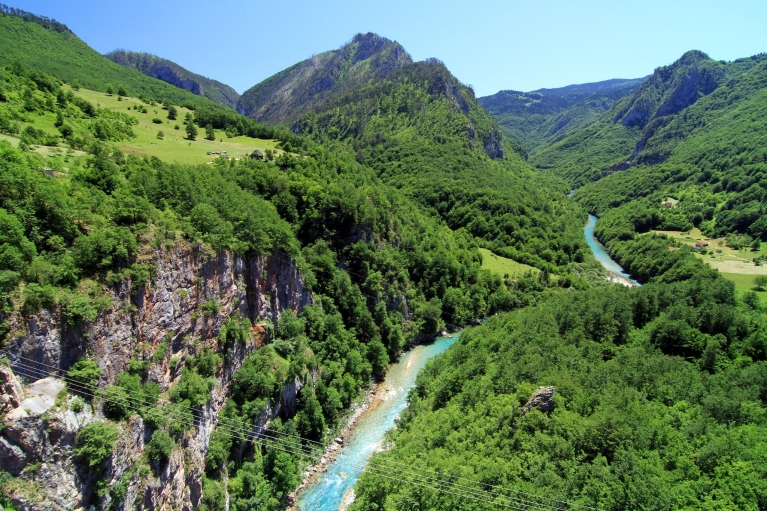 Tara river in Montenegro mountains