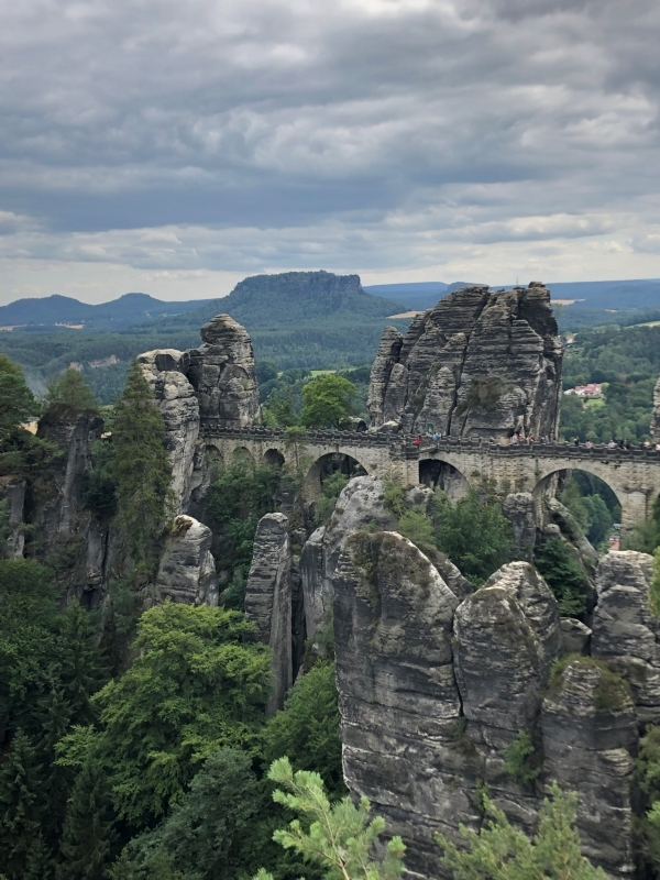 Bastei bridge in Saxon Switzerland (by Abi Motais)